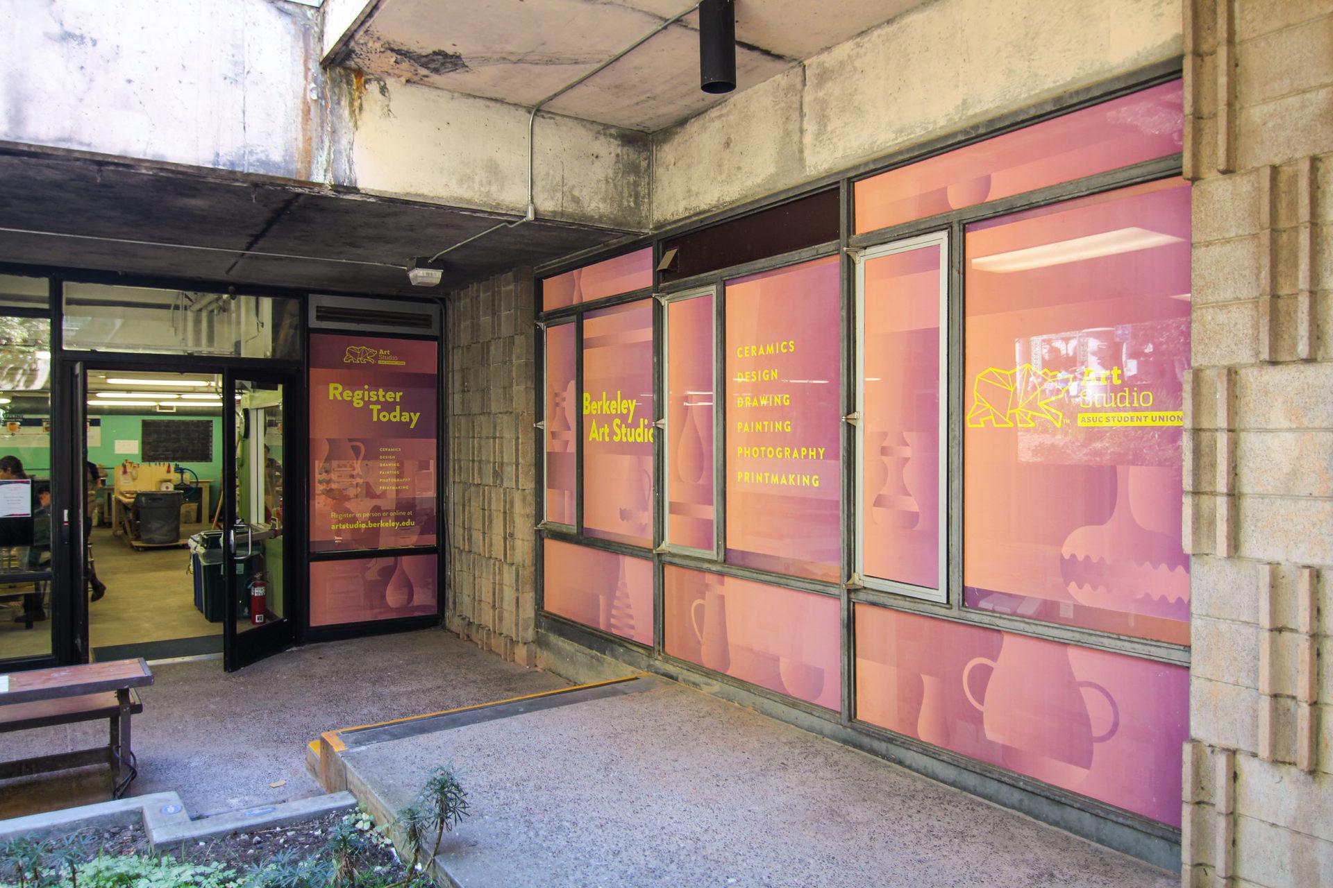 Design for Berkeley Art Studio promotional signage.